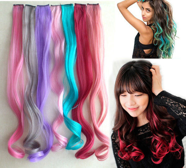 Highlights Colorful Loose Wavy Clip Hair Weft - lilyby