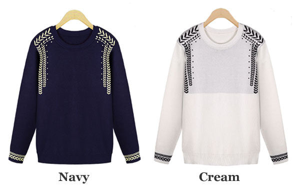 Pretty School Fashion Jacquard Knit Sweater - lilyby