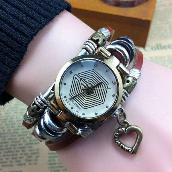 Eight Diagrams Pattern Heart Bracelet Watch - lilyby