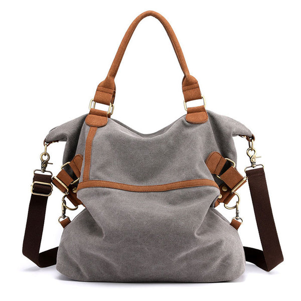 Unique Original Large-capacity Commuter Casual Multifunction Shoulder Bag Canvas Handbags