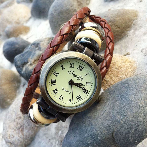 Retro Handmade Rope Bracelet Watch - lilyby