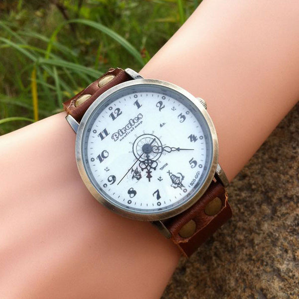 Retro Pirate Rudder Leather Watch - lilyby
