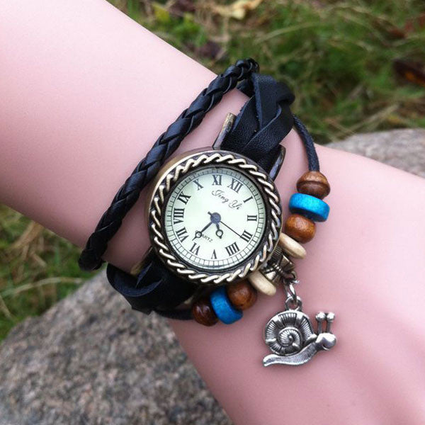 Retro Cute Snail Bracelet Watch - lilyby
