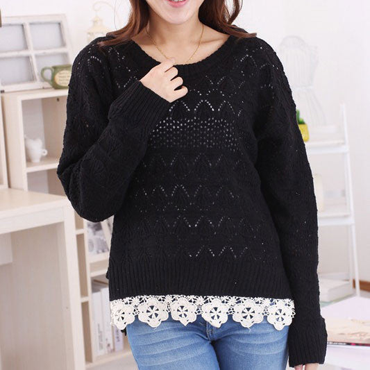 Pretty Lace Hollow Sweater & Cardigans - lilyby