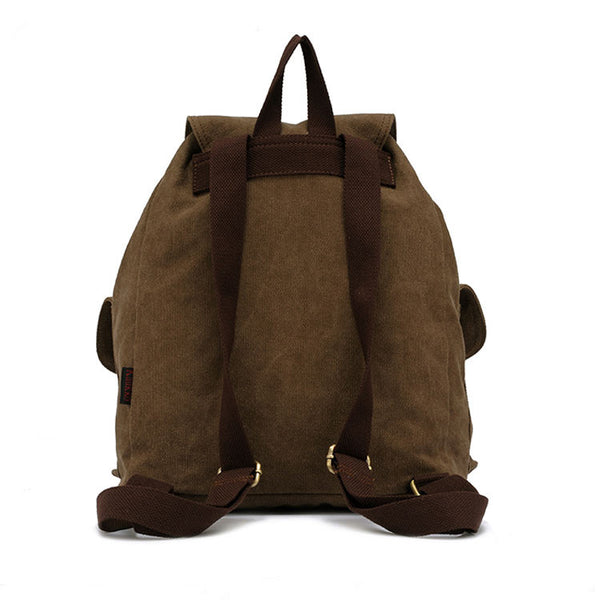 New Leather High-density Canvas Casual Backpack - lilyby