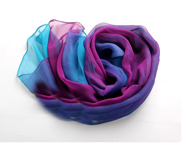 Blue fix Purple tie-dye gradient infinity scarf - lilyby