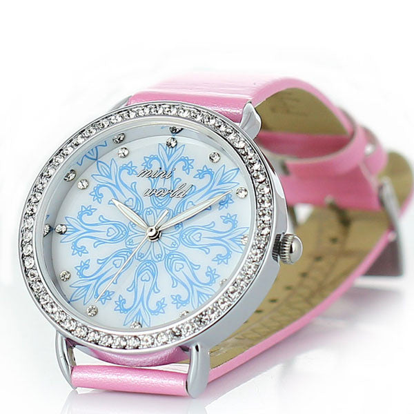 Special Snowflakes Rhinestone Woman Watch