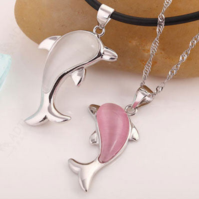 Cute Dolphin Animal Sterling Silver Pendant - lilyby