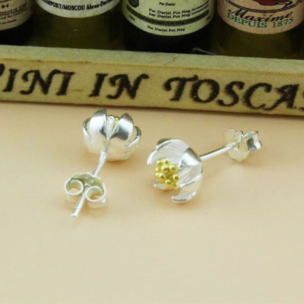 Little Daisy 925 Sterling Silver Ear Studs - lilyby