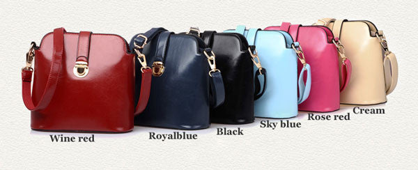 Latest Colorful Buckle Leather Shoulder Bags - lilyby
