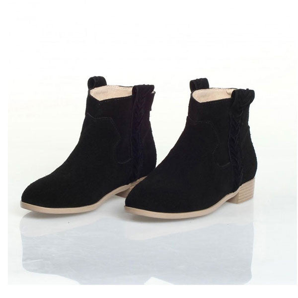 Retro Nubuck Leather Back Zipper Martin Boots/Ankle Boots - lilyby