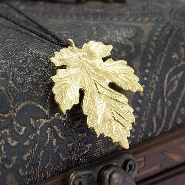 925 Silver Maple Leaf Silver Pendant Necklace - lilyby