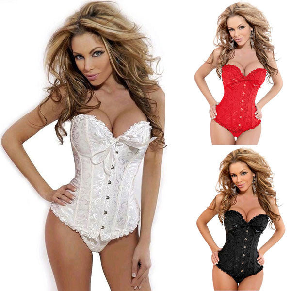 Sexy Lace Court Breast Care Fashion Corset - lilyby