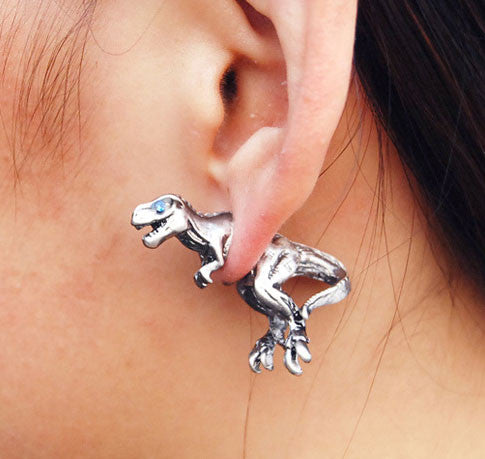 Fashion 3D Dinosaur Animal Earrings stud - lilyby