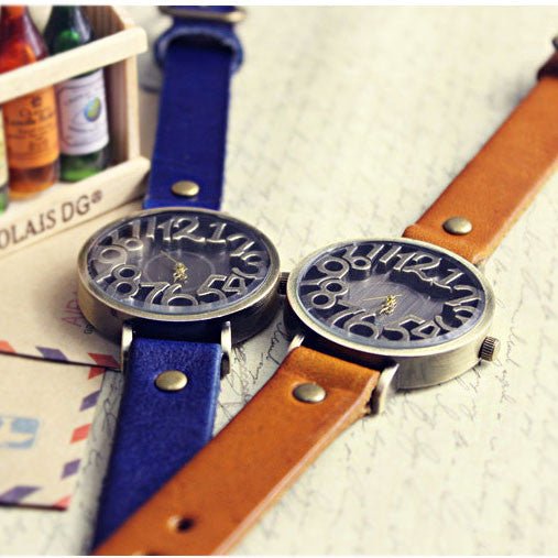 Retro Three-dimensional Scale Leather Watch - lilyby