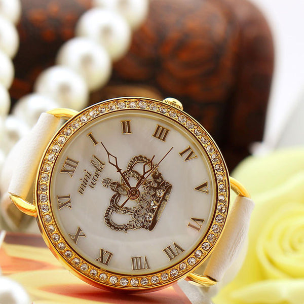 Individualized Rhinestone Crown Polymer Clay Watch - lilyby