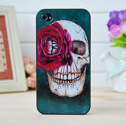 Punk Rose Skull Iphone Cases for Iphone 4/4s/5 - lilyby