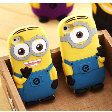 Cute Cartoon Minions Silicone Iphone Case for Iphone 4/4s/5 - lilyby