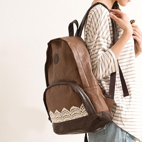 Latest Cheap Fashion Lace PU Backpack - lilyby