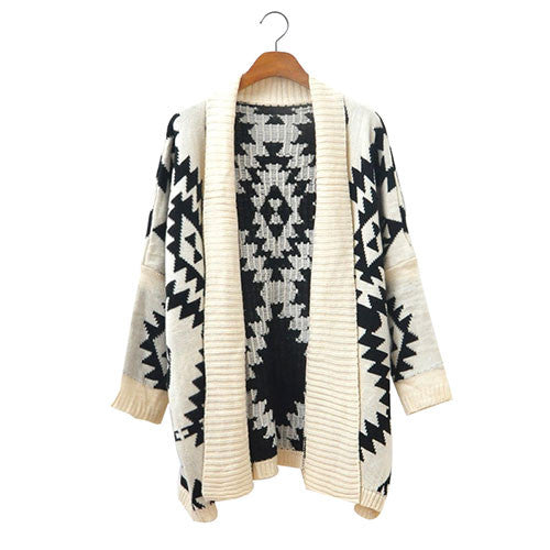New Geometric Loose Fitting Figure Knit&Cardigan - lilyby