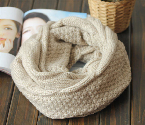New Cream Twisted Wool Hair Band Knitted Headband Scarf For Lovers - lilyby