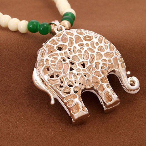 Cute Elephant Beads Sweater Necklace - lilyby