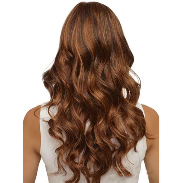 Fashion African Brown Big Wavy Long Curly Women Hair Wig
