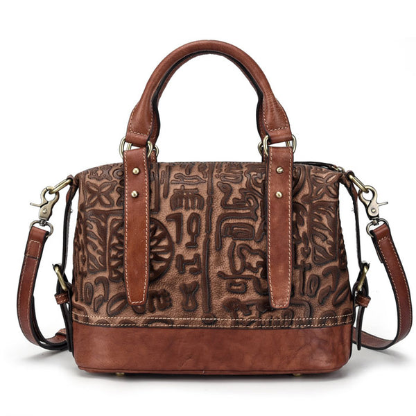 Retro Handmade Bark Folds Multi-function Handbag Original Cowhide Shoulder Bag