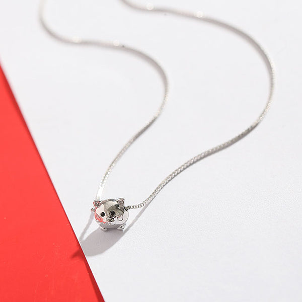 Lovely Little Pig Pendant Silver Animal Women Necklace