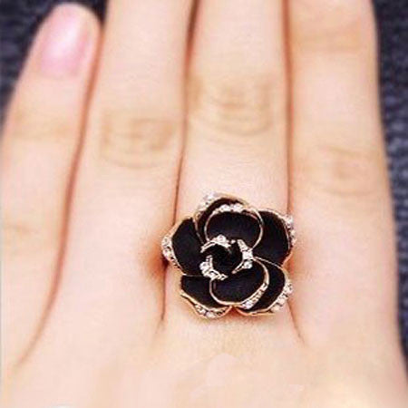 Retro Palace Rose Open Ring - lilyby