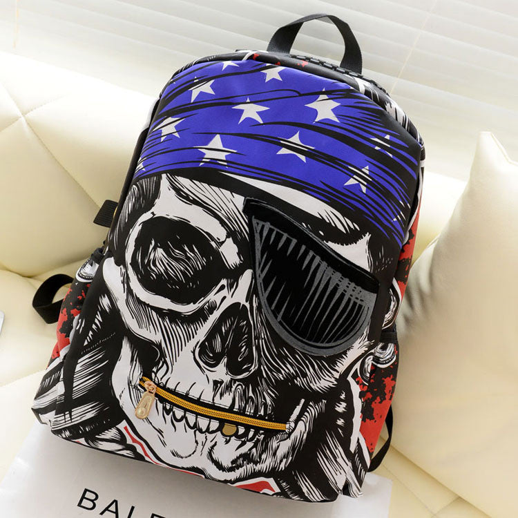 New Pirate Pentagram Printing Leisure Backpack - lilyby