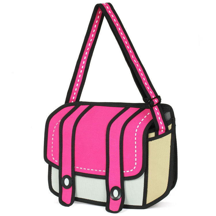 Cartoon Second Element Caricature Shoulder Bag&Messenger Bag - lilyby
