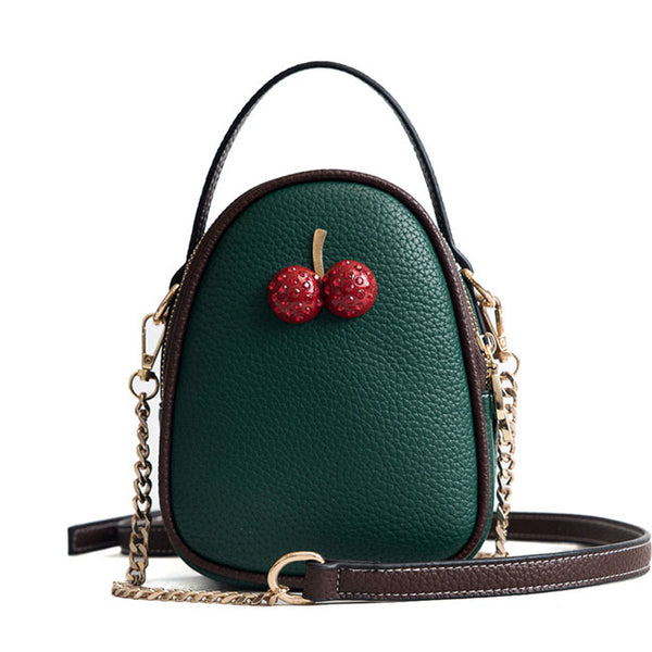 Cute Chain Strap Small Bag Women Two Strawberry Shoulder Bag