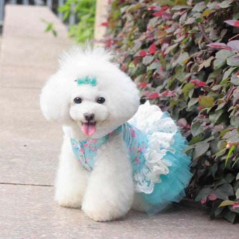 Floral Quilted Pet Dog Dress/Teddy Clothes - lilyby