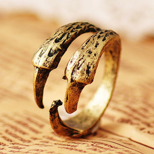 Punk Fashion Eagle Claw  Rings Jewelry - lilyby
