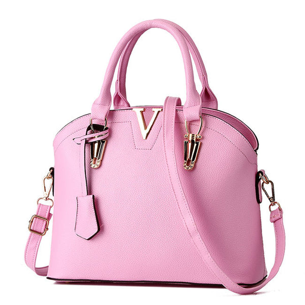 Fashion Women Simple Shoulder Bags Leather Messenger Bag Tote Purse Handbag