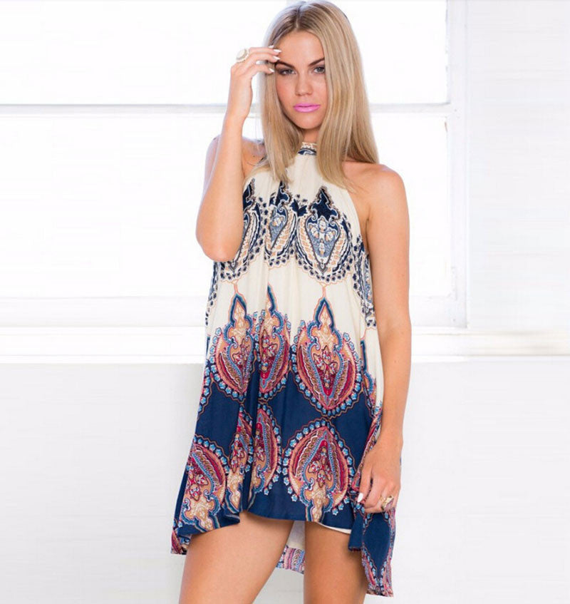 Geometry Strapless Printing Sexy Dress - lilyby
