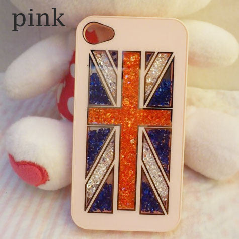 Shining UK Flag Crystal Iphone 4/4s/5 Case