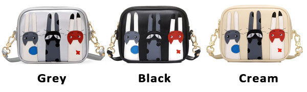 Cute Cartoon Cat Messenger Bag Kitten Patch Shoulder Bag - lilyby