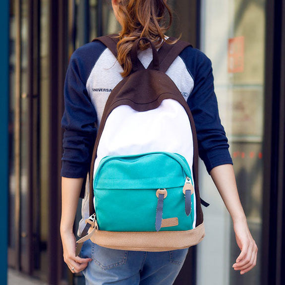 Leisure Multicolor Canvas Backpacks - lilyby