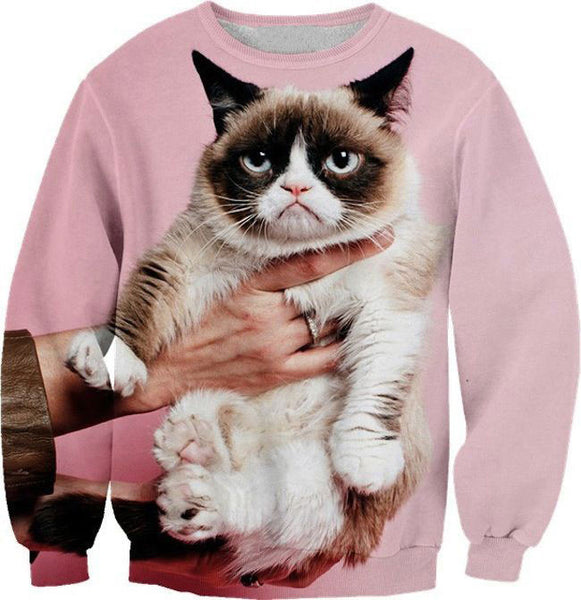 New Fashion Grumpy Cat 3D Digital Printing Sweatshirts - lilyby