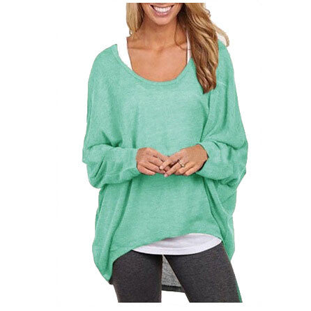 Oversized Long Sleeved Casual Hollow Knit Sweater