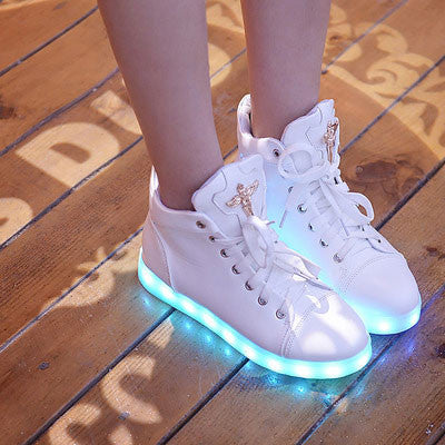 LED Charging Light High-top Shoes Casual Sneakers Shoes - lilyby