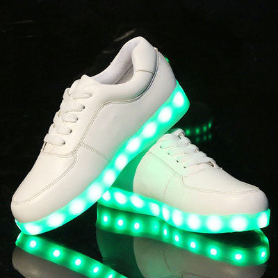 Fashion LED Light Inside Shoes Luminous USB charging colorful Casual Sneakers - lilyby