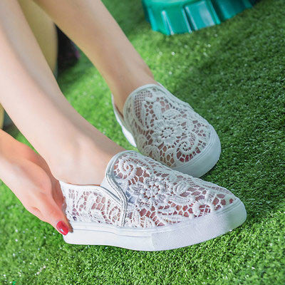 Summer New Breathable Mesh Casual Shoes Lace Shoes