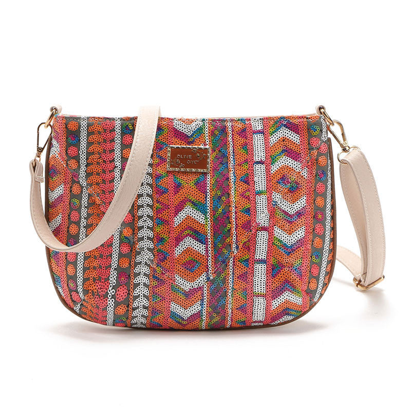 Geometric Sequin Shining Shoulder Bag Messenger Bag