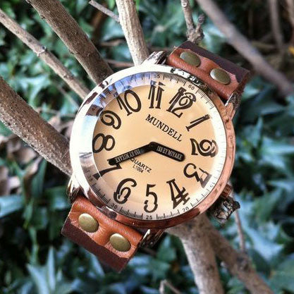 Retro Convex Handmde Leather Watch - lilyby