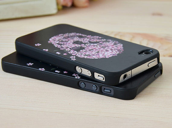 Floral Punk Skull Iphone Cases for Iphone 4/4s/5 - lilyby