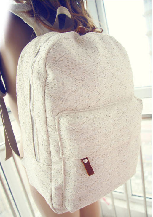 New Pretty Floral Lace Backpack - lilyby