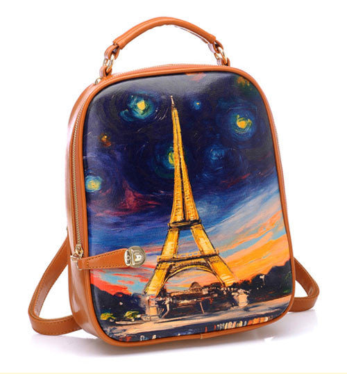 Latest Graffiti  Eiffel Tower Painting Backpack - lilyby